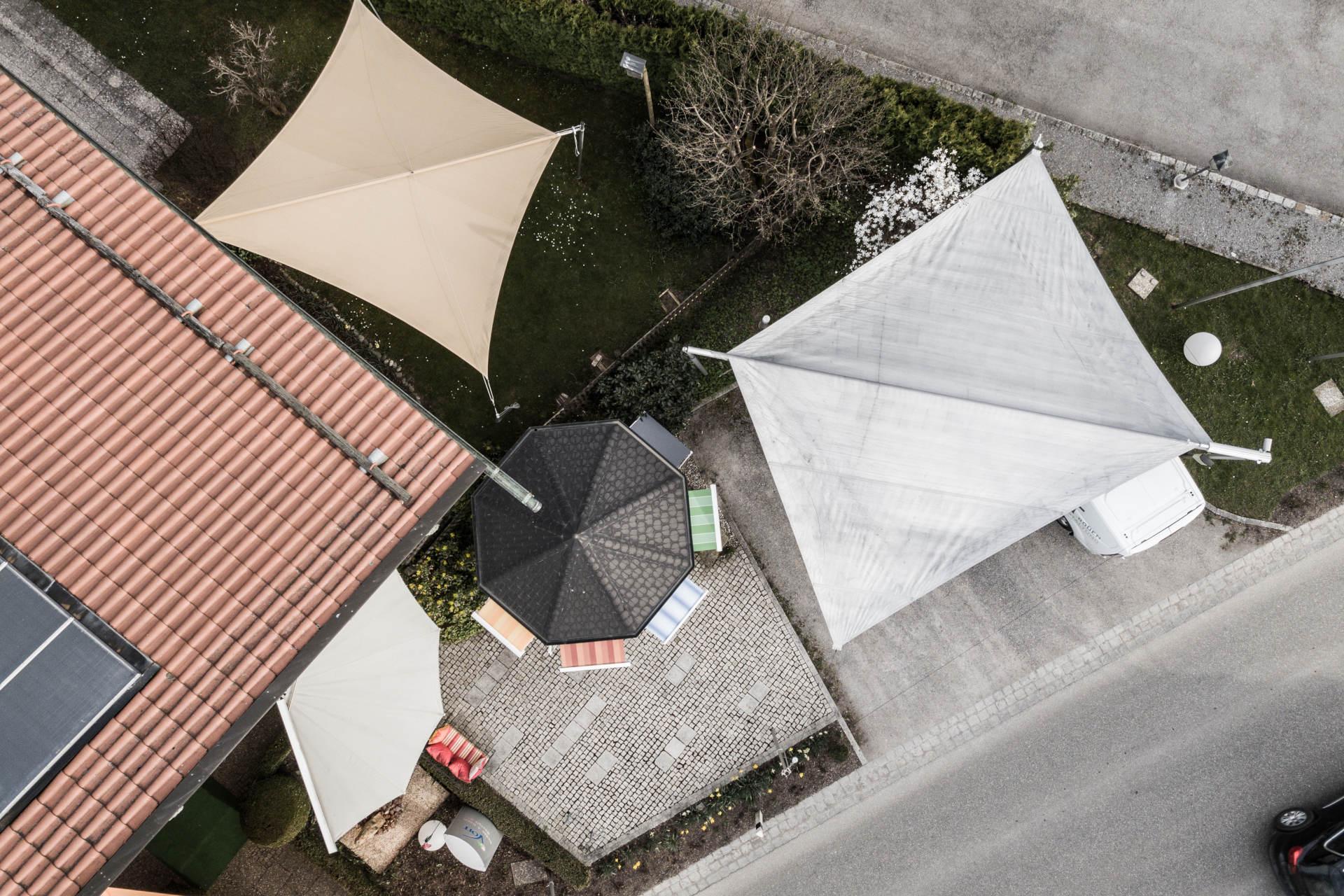 Drohnenfoto Sonnensegel